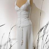 Одежда ручной работы. Ярмарка Мастеров - ручная работа Белый летний костюм . с кружевом. Белое лето. Handmade.
