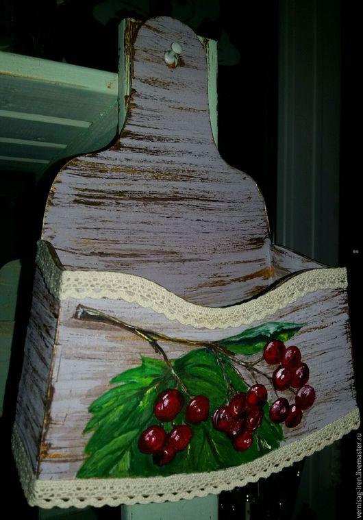 """Кухня ручной работы. Ярмарка Мастеров - ручная работа. Купить Кухонный кармашек """"калинка"""". Handmade. Комбинированный, Роспись по дереву"""