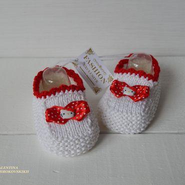 """Обувь ручной работы. Ярмарка Мастеров - ручная работа """"Китти"""" следочки - туфельки для девочки. Handmade."""