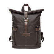 Сумки и аксессуары handmade. Livemaster - original item Backpack leather brown female rush Hour Mod R31-122. Handmade.
