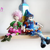 Куклы и игрушки ручной работы. Ярмарка Мастеров - ручная работа Мими и Пиппа. Handmade.