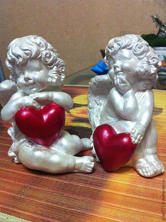 Статуэтки ручной работы. Ярмарка Мастеров - ручная работа. Купить Ангелочки для влюбленных. Handmade. Белый, Гипсовая заготовка