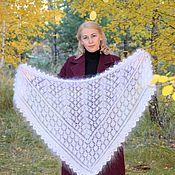 Аксессуары handmade. Livemaster - original item Headscarves:Openwork down scarf
