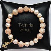 Украшения handmade. Livemaster - original item Bracelet of pearls and agate sun. Handmade.