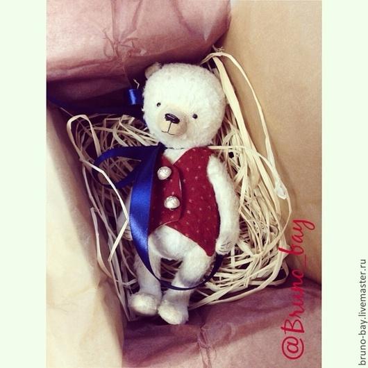 Мишки Тедди ручной работы. Ярмарка Мастеров - ручная работа. Купить К Рождеству 2. Handmade. Белый, мишка тедди
