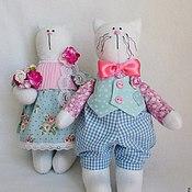 Куклы и игрушки ручной работы. Ярмарка Мастеров - ручная работа Влюбленные котики.. Handmade.
