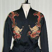 Одежда ручной работы. Ярмарка Мастеров - ручная работа Дракон (машинная вышивка). Handmade.