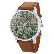 Дизайнерские наручные часы Brown_Классический Узор