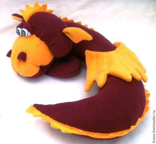Сказочные персонажи ручной работы. Ярмарка Мастеров - ручная работа. Купить Автомобильная подушка-игрушка Китайский дракон Почти Дремлющий. Handmade.