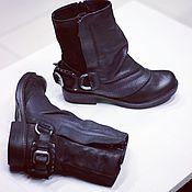 Ботинки ручной работы. Ярмарка Мастеров - ручная работа Ботинки кожаные.. Handmade.