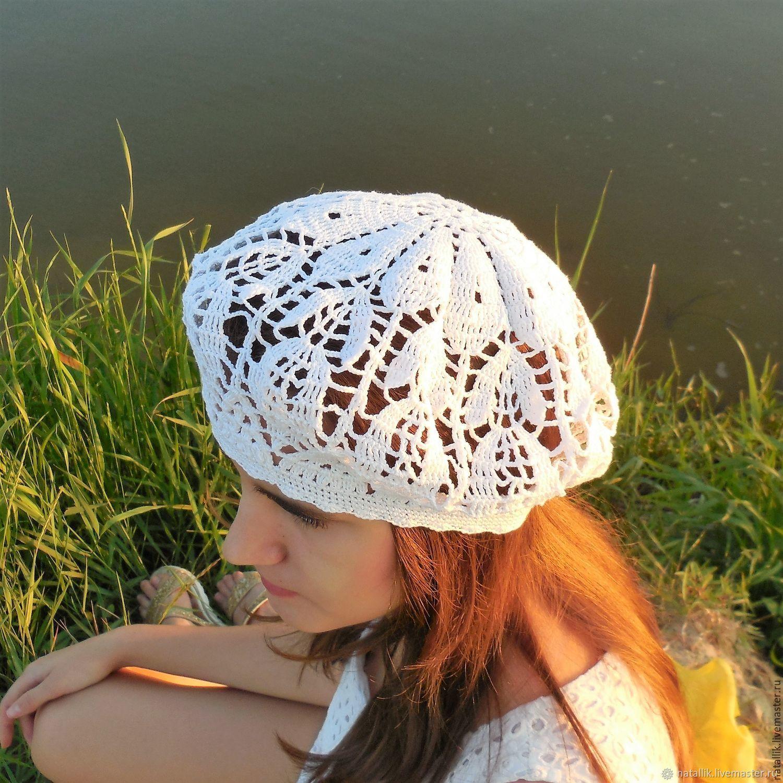 Вязание крючком летних беретов картинки