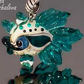"""Украшения ручной работы. Ярмарка Мастеров - ручная работа Подвеска рыбка """"Голубоглазик"""" (голубая, бирюзовая, муранское стекло). Handmade."""