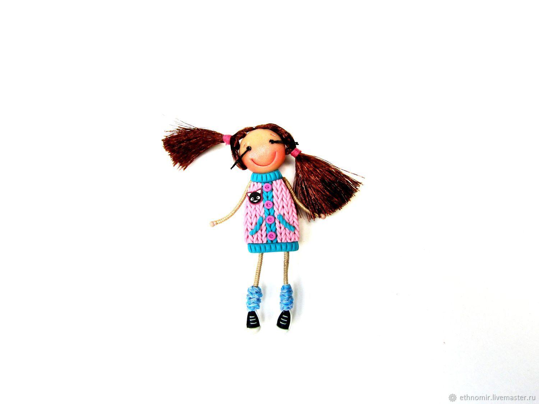 Brooch girl 'Ilaria', Brooches, Irbit,  Фото №1