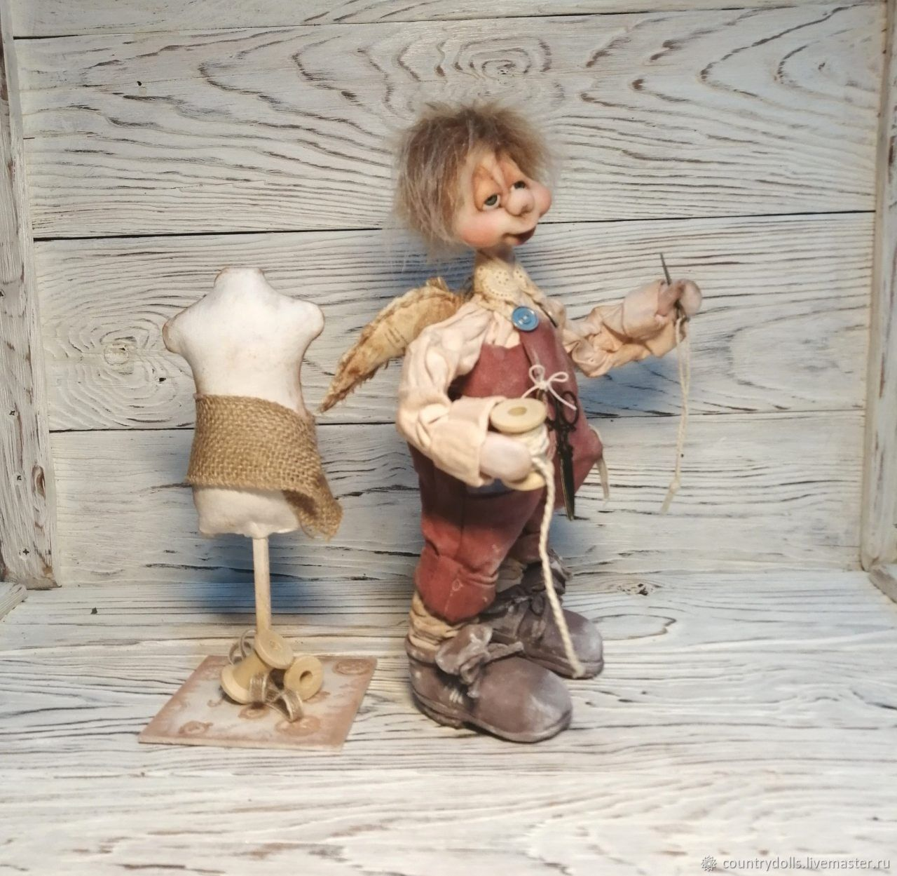 Doll, textile, collectible.' To The Tailors Of SEMA', Dolls, Mezhdurechensk,  Фото №1