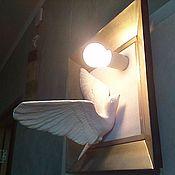 Для дома и интерьера ручной работы. Ярмарка Мастеров - ручная работа Светильник  « Белая птица ». Handmade.