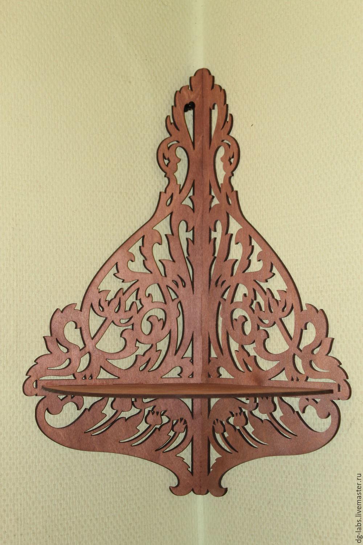 Corner shelf carved, Shelves, Moscow,  Фото №1