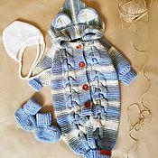 Одежда детская handmade. Livemaster - original item Baby knitted jumpsuit set newborn baby girl boy. Handmade.