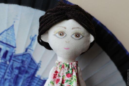Коллекционные куклы ручной работы. Ярмарка Мастеров - ручная работа. Купить Авторская текстильная кукла Восточная.. Handmade. Коричневый, в наличии