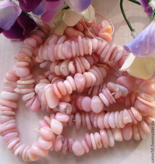 Для украшений ручной работы. Ярмарка Мастеров - ручная работа. Купить № 3 Опал розовый бусины чипсы. Handmade.