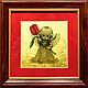 Подарки для влюбленных ручной работы. Подарок для влюбленных. Картина из золота  Ангелы. Золотая Черепаха (goldturtle). Ярмарка Мастеров. Ангелы