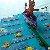 Куклы и игрушки ручной работы. Ярмарка Мастеров - ручная работа Развивающая книжка-игрушка Рыбалка. Handmade.