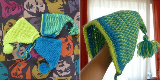 Шапки и шарфы ручной работы. Ярмарка Мастеров - ручная работа. Купить Забавные шапочки для малышей. Handmade. Для мальчика, с помпоном