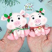Сувениры и подарки handmade. Livemaster - original item Glamorous pig made of felt-the symbol of 2019, a pig made of felt. Handmade.