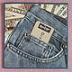 """Открытки для мужчин, ручной работы. Ярмарка Мастеров - ручная работа. Купить открытка""""Джинсы Levis"""". Handmade. Открытка, открытка на день рождения"""