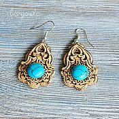 Украшения handmade. Livemaster - original item Earrings from birch bark