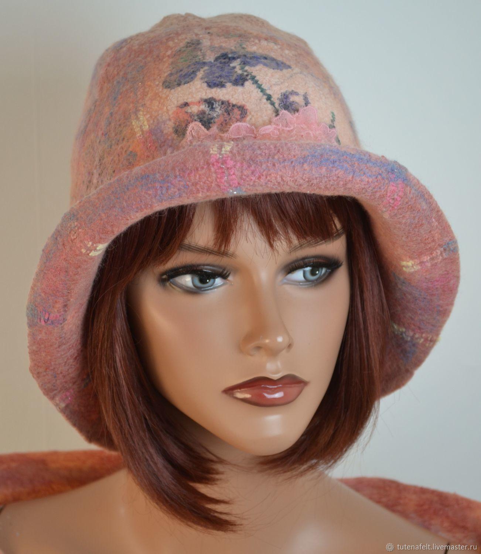 Шляпы ручной работы. Ярмарка Мастеров - ручная работа. Купить Валяная  шляпа шапочка. Handmade. Валяная шапка