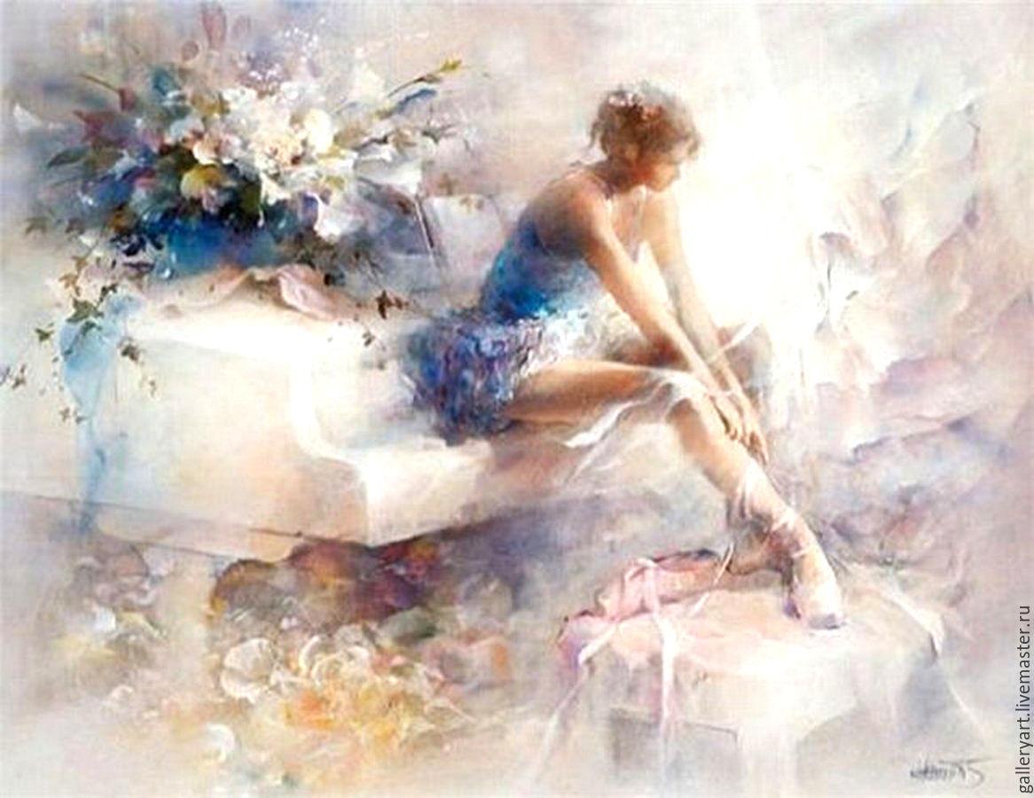 Картинками, картинки балерина и цветы