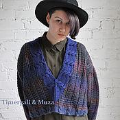 Одежда ручной работы. Ярмарка Мастеров - ручная работа Красивый женский пуловер с глубоким вырезом, авторский вязаный пуловер. Handmade.