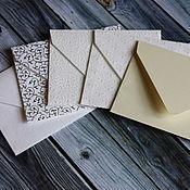 Материалы для творчества ручной работы. Ярмарка Мастеров - ручная работа Конверты для приглашений из дизайнерской бумаги. Handmade.