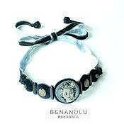 Necklace handmade. Livemaster - original item A choker or a bracelet. Rococo girl portrait. silk embroidery. Handmade.