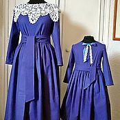 Одежда ручной работы. Ярмарка Мастеров - ручная работа Платье Лавандовые феи Хлопок 100%. Handmade.