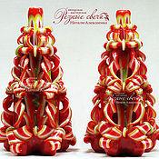 """Подарки к праздникам ручной работы. Ярмарка Мастеров - ручная работа Резная свеча """"Новогодний подарок"""". Handmade."""