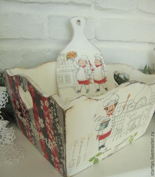 """Корзины, коробы ручной работы. Ярмарка Мастеров - ручная работа. Купить короб хлебница """"Bon appetit """". Handmade. Белый"""