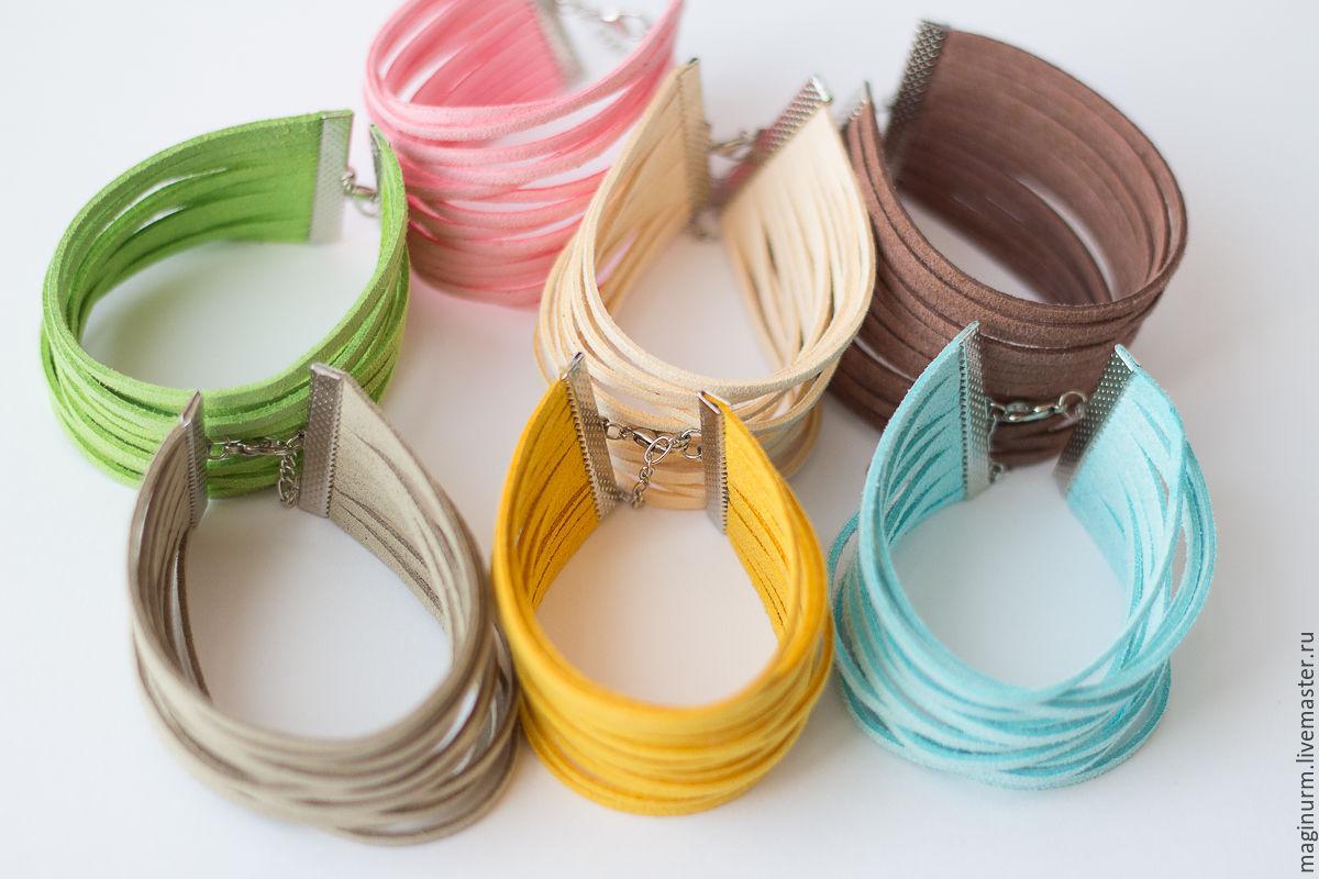 Браслеты из замшевых шнурков