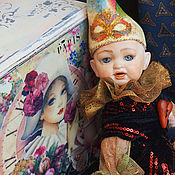 Куклы и игрушки ручной работы. Ярмарка Мастеров - ручная работа Золотой ребенок, Арлекин. Handmade.