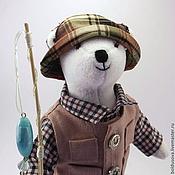 Куклы и игрушки ручной работы. Ярмарка Мастеров - ручная работа Мишка рыбак. Handmade.