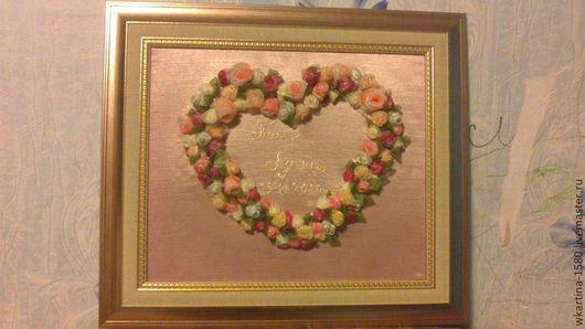 Фэнтези ручной работы. Ярмарка Мастеров - ручная работа. Купить Сердце из роз. Handmade. Кремовый, розы, свадьба, юбилей