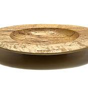 Аксессуары ручной работы. Ярмарка Мастеров - ручная работа Деревянная чаша(тарелка) (Karelian Birch). Handmade.