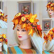"Осенний венок на голову ""Королева осени"""