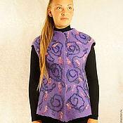 """Одежда ручной работы. Ярмарка Мастеров - ручная работа Жилет валяный""""Фиолетовый бриз """". Handmade."""