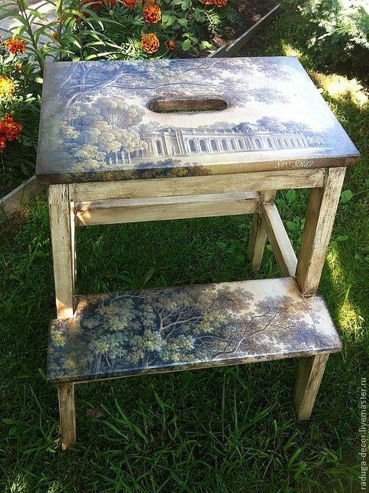 Мебель ручной работы. Ярмарка Мастеров - ручная работа. Купить табурет-лестница. Handmade. Оригинальный подарок, натуральное дерево
