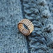 Украшения ручной работы. Ярмарка Мастеров - ручная работа Кольцо из меди Knitted. Handmade.