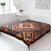 Для дома и интерьера handmade. Livemaster - original item Brown double Pokrywa patchwork(patchwork). Handmade.