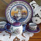 """Сервизы ручной работы. Ярмарка Мастеров - ручная работа Чайный сервиз """"Винтаж лаванда"""". Handmade."""