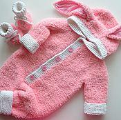 """Работы для детей, ручной работы. Ярмарка Мастеров - ручная работа Комплект для новорожденного """"Плюшевый заяц"""". Handmade."""