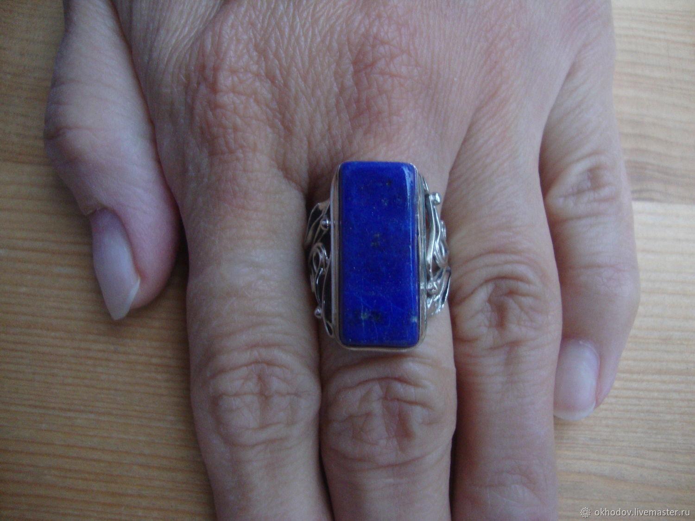 Кольцо с Бадахшанским (афганским) лазуритом 7, Кольца, Калуга,  Фото №1